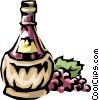 Wine bottle Vector Clipart illustration