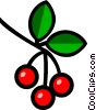 Symbol of cherries Vector Clipart picture