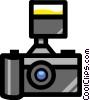 Symbol of a camera Vector Clipart graphic