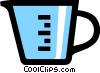 Vector Clipart graphic  of a Symbol of a measuring cup