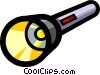 Vector Clipart picture  of a Symbol of a flashlight