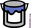 Vector Clip Art image  of a Symbol of a paint can