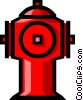 Vector Clip Art image  of a Symbol of a fire hydrant