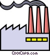 Symbol for a factory Vector Clip Art graphic