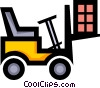 Vector Clipart illustration  of a Symbol of a forklift