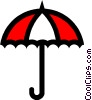 Symbol of an umbrella Vector Clipart illustration
