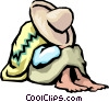 Sleeping Mexican Vector Clipart graphic