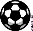 Symbol of a soccer ball Vector Clipart picture