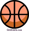 Vector Clip Art graphic  of a Symbol of a basketball