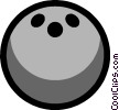 Symbol of a bowling ball Vector Clipart illustration