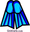 Vector Clip Art picture  of a Symbol of diving fins