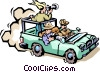 Safari jeep Vector Clip Art picture