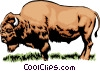 Vector Clipart illustration  of a Buffalo