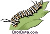 Vector Clip Art picture  of a Caterpillar