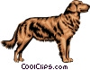 Vector Clipart picture  of a Golden Retriever