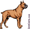 Vector Clipart graphic  of a Boxer