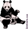 Panda Bears Vector Clipart illustration