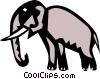Cool elephant Vector Clipart graphic