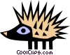 Cool porcupine Vector Clipart picture