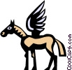 Pegasus Vector Clip Art graphic