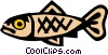 Vector Clipart picture  of a Cool fish
