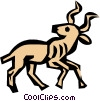 Vector Clipart image  of a Cool bull