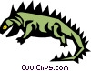 Vector Clipart picture  of a Reptile