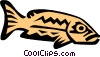 Cool fish Vector Clipart graphic