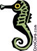 Vector Clipart illustration  of a Cool seahorse
