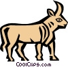 Vector Clipart graphic  of a Cool bull