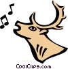 Vector Clip Art image  of a Cool deer