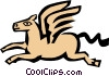 Vector Clip Art image  of a Winged horse