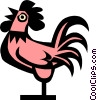 Vector Clip Art image  of a Cool hen