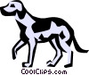 Vector Clipart graphic  of a Cool dogs