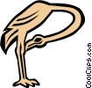 Cool Flamingo Vector Clipart illustration