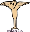 Vector Clip Art image  of a Cool birds