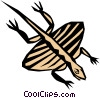Vector Clip Art graphic  of a Prehistoric Flying reptile