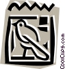 Vector Clip Art image  of a Egyptian hieroglyphic symbols