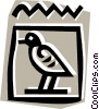 Egyptian hieroglyphic symbols Vector Clip Art graphic