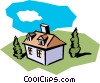 Vector Clip Art graphic  of a House symbol