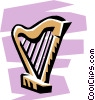 Vector Clipart picture  of a Harp