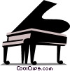 Vector Clipart illustration  of a Grand piano