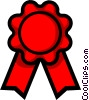 Symbol of a prize ribbon Vector Clip Art picture