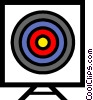 Symbol of a target Vector Clipart picture