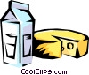 Milk and cheese Vector Clipart picture