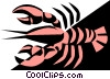 Vector Clip Art picture  of a Cool lobsters