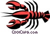 Cool lobsters Vector Clip Art graphic