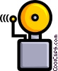 Symbol of an alarm bell Vector Clip Art picture