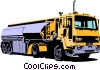 Petroleum transport truck Vector Clip Art picture