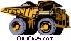 Vector Clip Art graphic  of a Large dump truck